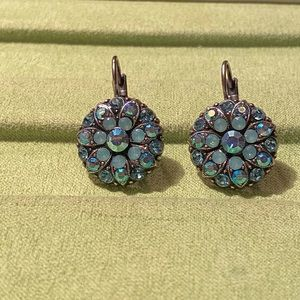 New Silver Plated Earrings-Crystal Stones